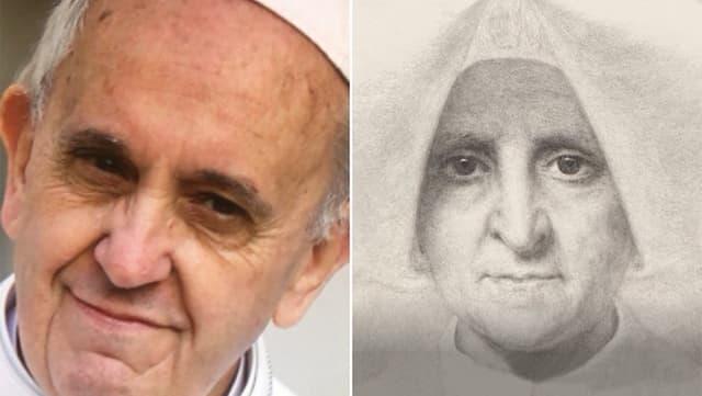 Papst Franziskus und das Portrait