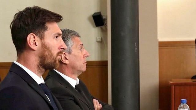 purtret da Lionel Messi e ses bab Jorge