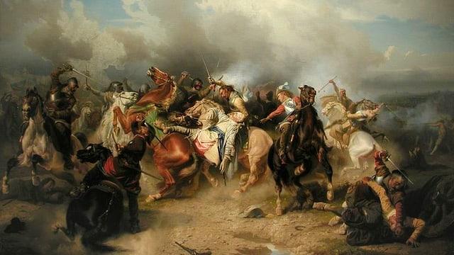 Ein kriegerisches Gemetzel an der Schlacht von Lützen.