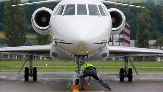 Frontalansicht Flugzeug