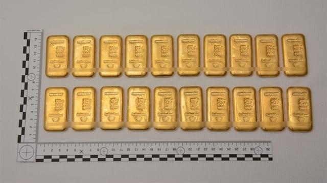 20 barras d'aur