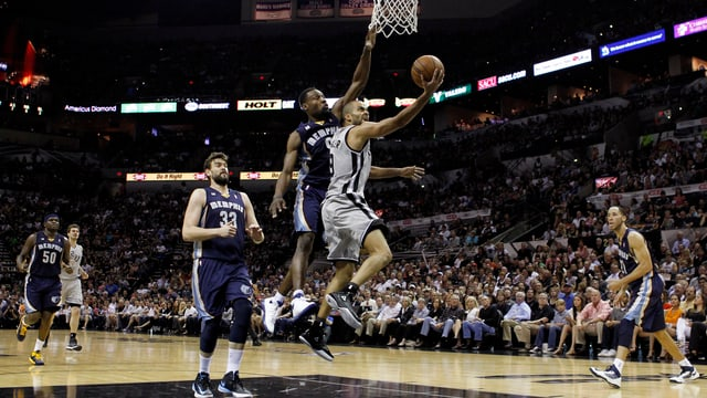 Spurs-Topskorer Tony Parker erwischte gegen Memphis einen starken Abend.