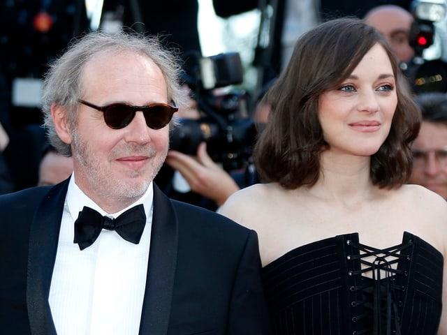 Regisseur Arnaud Desplechin mit Oscar-Preisträgerin Marion Cotillard.