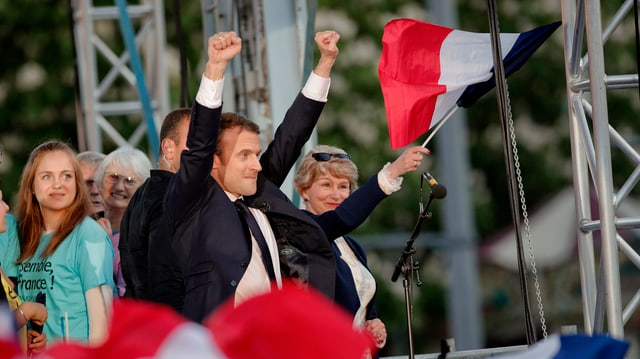 Qua giubilescha el gia: Emmanuel Macron.