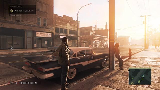Die Sonne geht unter, Clay hat einen geilen Karren und die Frau will sicher nicht mitfahren.
