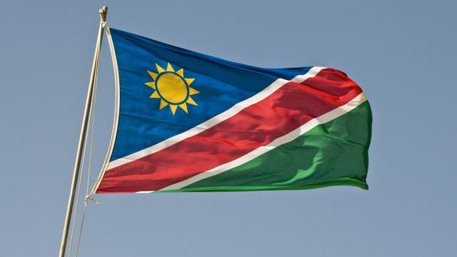 Die Flagge Namibias