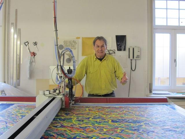 Bernard Tagwerker im Atelier