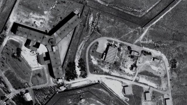 Luftansicht des Militärgefängnisses von Saydnaya.