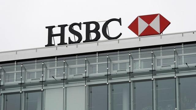 Logo der HSBC in Genf.