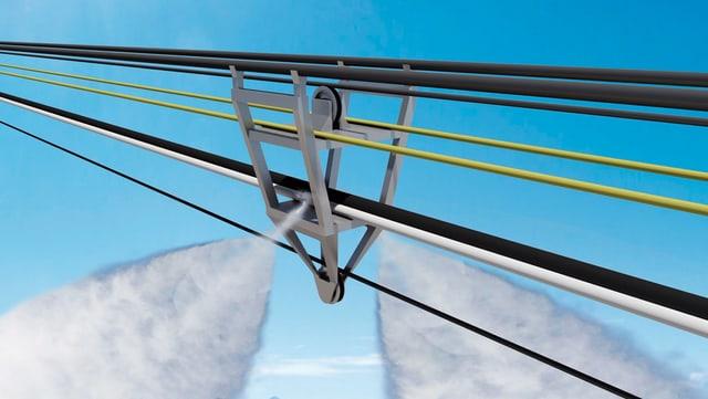 Visualisaziun da l'apparat d'ennaiver, il project da pilot da la HTW Cuira.