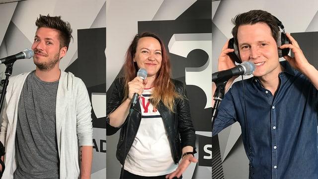 Joël von Mutzenbecher, Lisa Catena und Fabian Unteregger (v.l.n.r.)