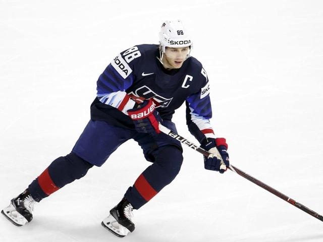 Patrick Kane auf dem Eis