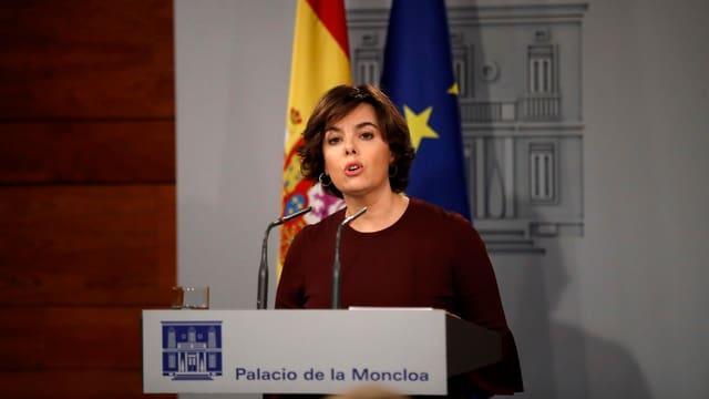 Soraya Saenz de Santamaria, la vice-primministra da la Spagna.