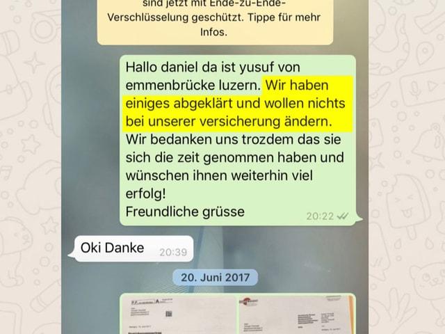 Chatverlauf Whatsapp