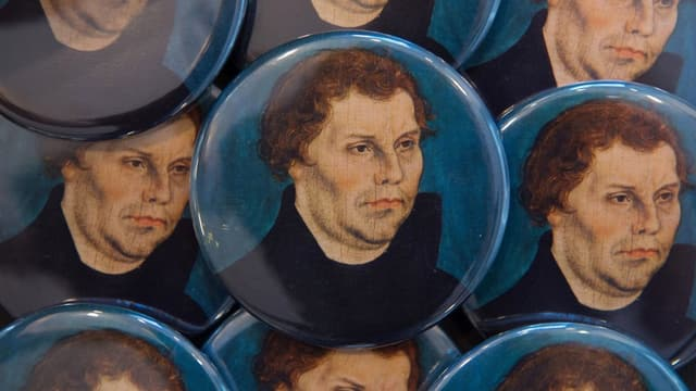 Luther auf Badges.