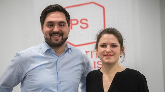 Cédric Wermuth und Mattea Meyer.
