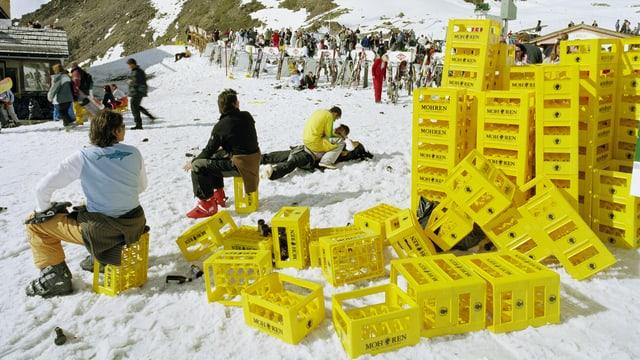Saisonabschluss-Event, Idalp, Ischgl, April 2004