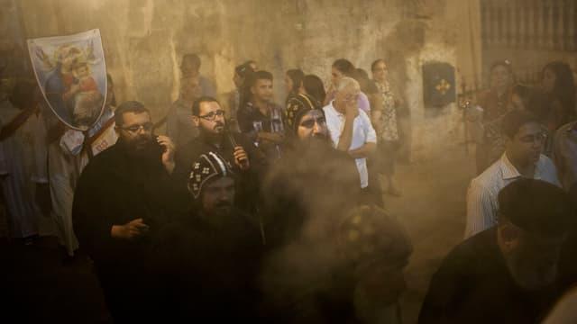 Kopten in Ägypten feiern einen Gottesdienst.