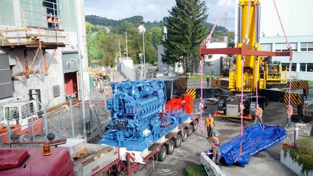 Sattelschlepper mit einem Dieselgenerator
