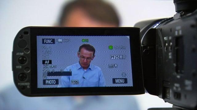 Pierre-Yves Gilliéron durch die Kamera gesehen