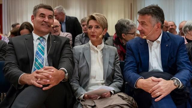 Christian Amsler, Karin Keller-Sutter und Hans Wicki