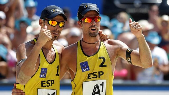 Herrera (links) und Gavira sind Europameister.