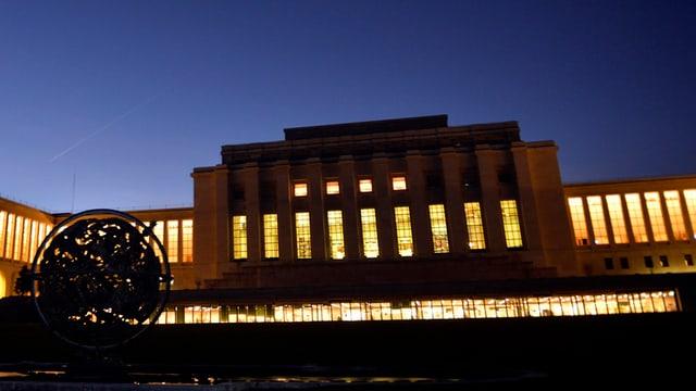 Il Palais des Nations a Genevra.