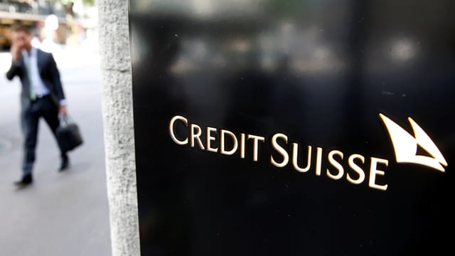 Logo da la banca Credit Suisse.