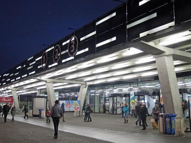 Der Eingang zu den Bernexpo-Hallen.