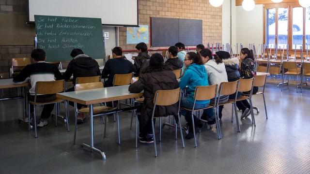 Deutschunterricht im Bundesasylzentrum Glaubenberg