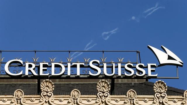 Logo der Credit Suisse am Zürcher Paradeplatz.