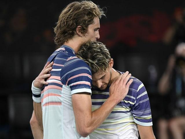 Zverev gratuliert Thiem zum Sieg: Halbfinal bei den Australian Open 2020.