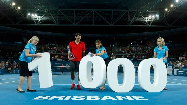 Roger Federer feierte in Brisbane im Januar seinen 1000. Sieg auf der Tour.