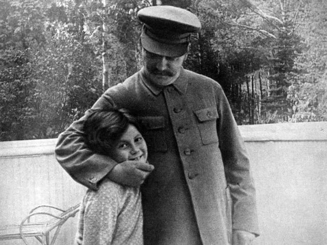 Stalin mit Tochter.