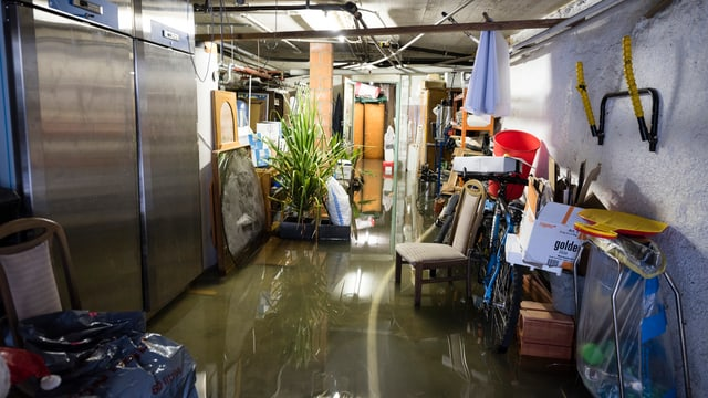 Überfluteter Keller.