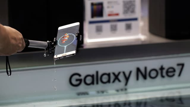 Wassertest des neuen Samsung.