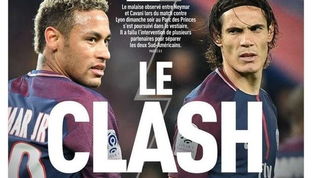 Die Titelseite der L'Equipe titelt «Le Clash».