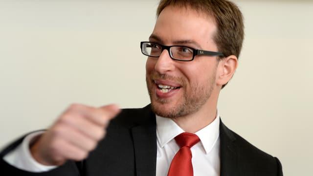 Daniel Frei ballt motiviert die Faust.