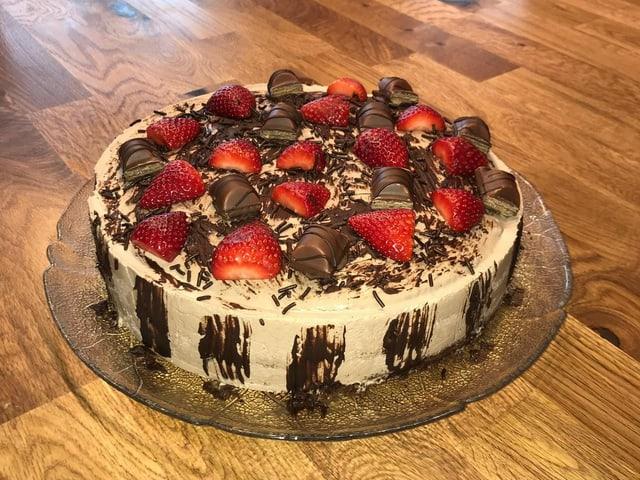 Der Schokoladen-Erdbeer-Kuchen von Géraldine Ruckstuhl.