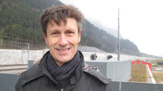 Denis Rossi, der oberste Verantwortliche für den Unterhalt des Gotthard-Basistunnels.