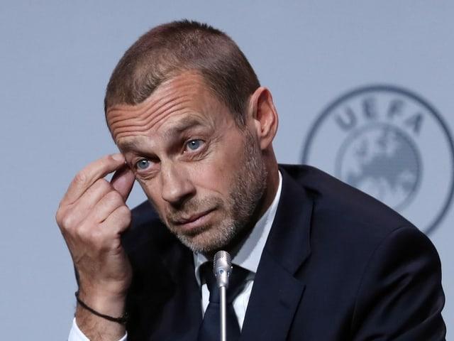Ein nachdenklicher Uefa-Präsident Aleksander Ceferin.