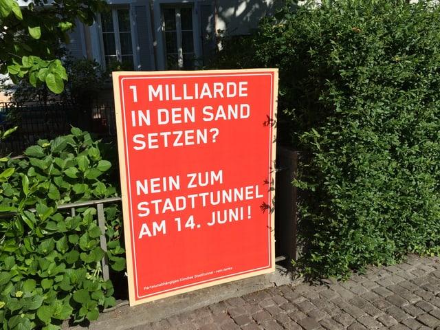 Den Gegnern des Stadttunnels ist der Preis zu hoch.