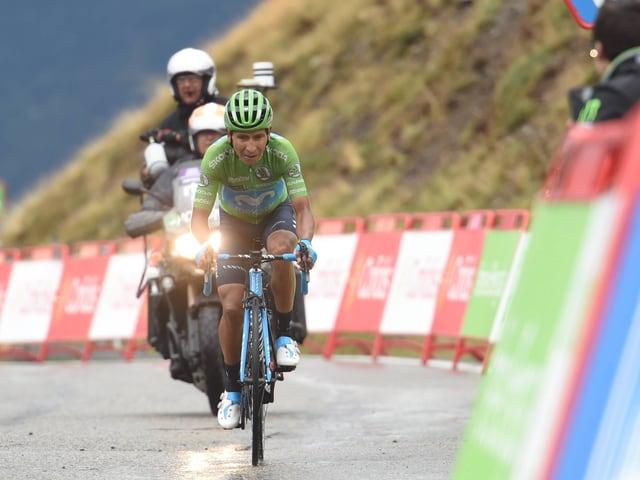 Nairo Quintana übernimmt das Rote Leadertrikot der Vuelta.