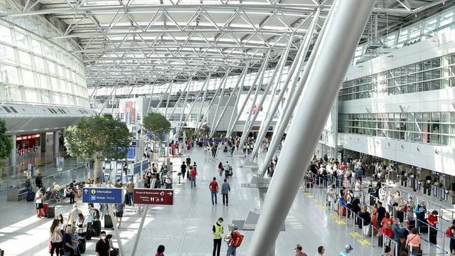 Der Flughafen in Düsseldorf.