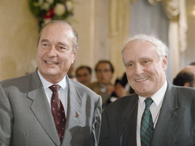 Chirac und Cotti.