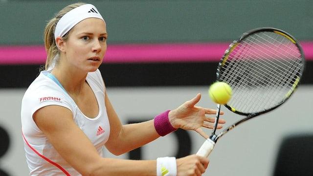 Stefanie Vögele steht beim WTA-Turnier in Memphis im Halbfinal.