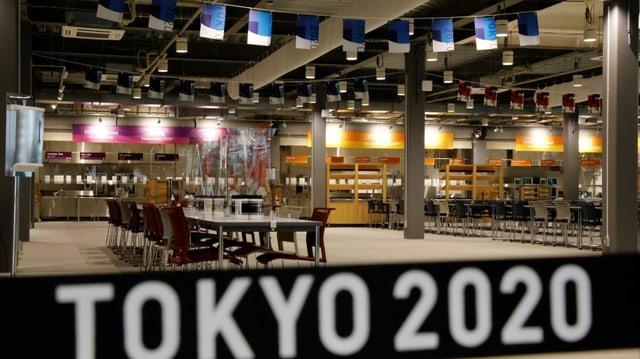 Leeres Restaurant in Tokio.