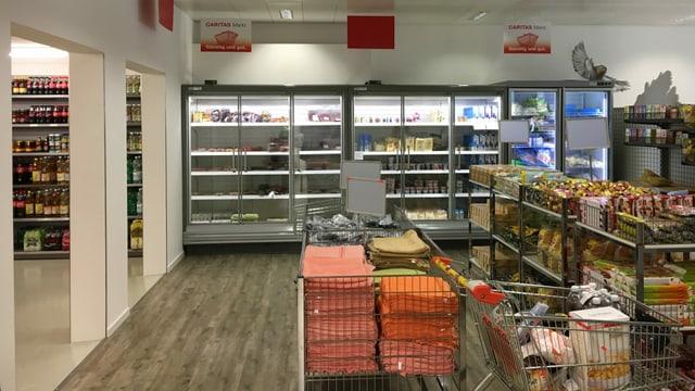 Il Caritas-Markt sco quel da Cuira (foto) resta avert era durant ils temps dal Coronavirus.