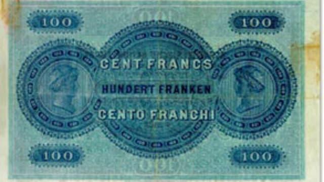 Bancanota da 100 francs dal 1907