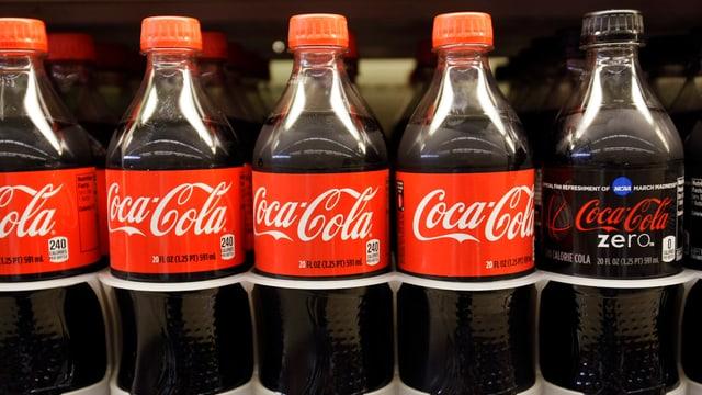 Cola-Flaschen.